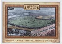 First World Series Championship Game Played
