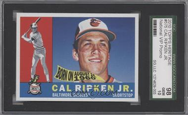 2010 Topps 1960 Design National Convention [Base] #575 - Cal Ripken Jr. [SGC 98]