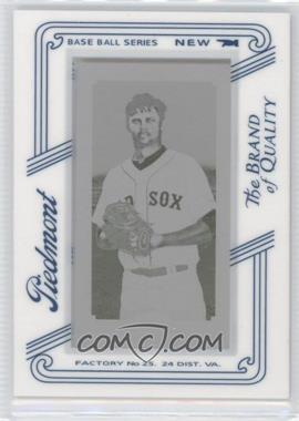 2010 Topps 206 - [Base] - Printing Plate Mini Yellow Piedmont Framed #76 - Clay Buchholz /1