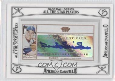 2010 Topps 206 Mini American Caramel Framed Autographs [Autographed] #ACA-DS - Duke Snider