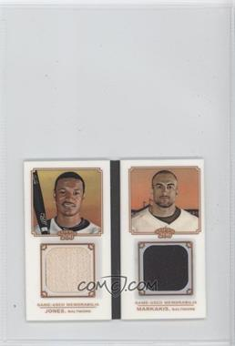 2010 Topps 206 Mini Book Relic #MBR7 - Adam Jones, Nick Markakis /99