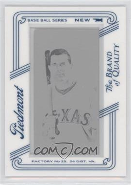 2010 Topps 206 Printing Plate Mini Black Piedmont Framed #252 - Michael Young /1