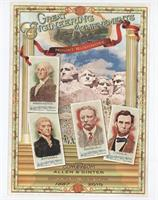 George Washington, Thomas Jefferson, Theodore Roosevelt, Abraham Lincoln