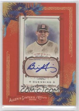 2010 Topps Allen & Ginter's Framed Mini Autographs [Autographed] #AGA-BD - Brian Duensing