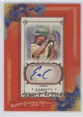 2010 Topps Allen & Ginter's Framed Mini Autographs [Autographed] #AGA-EC - Everth Cabrera