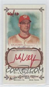 2010 Topps Allen & Ginter's Framed Mini Autographs Red Ink [Autographed] Unframed #AGA-JW - Josh Willingham /10