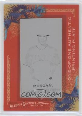 2010 Topps Allen & Ginter's Printing Plate Mini Black Framed #194 - Nyjer Morgan /1