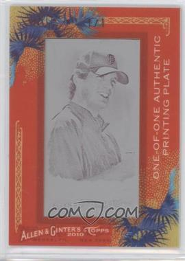 2010 Topps Allen & Ginter's Printing Plate Mini Magenta Framed #296 - Barry Zito /1
