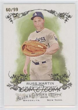 2010 Topps Allen & Ginter's Rip Cards Ripped #N/A - Russell Martin