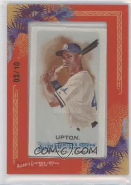 2010 Topps Allen & Ginter's Silk Mini Framed #13 - B.J. Upton /10