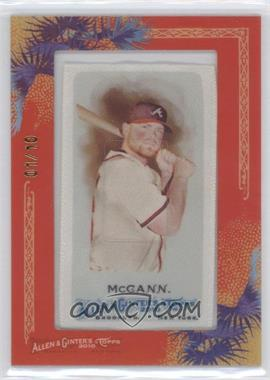 2010 Topps Allen & Ginter's Silk Mini Framed #226 - Brian McCann /10