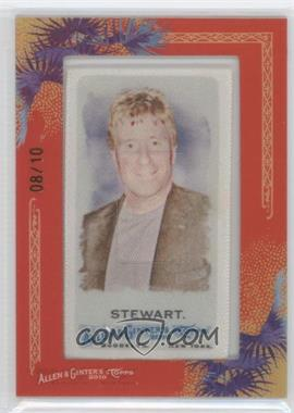 2010 Topps Allen & Ginter's Silk Mini Framed #N/A - Rod Stewart /10