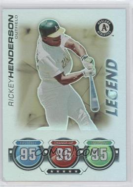 2010 Topps Attax - Battle of the Ages - Foil #RIHE - Legend - Rickey Henderson