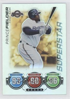 2010 Topps Attax Battle of the Ages Foil #PRFI - Superstar - Prince Fielder