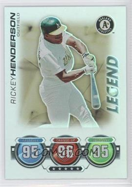 2010 Topps Attax Battle of the Ages Foil #RIHE - Legend - Rickey Henderson