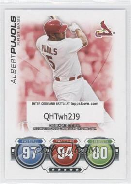 2010 Topps Attax Battle of the Ages #N/A - Albert Pujols