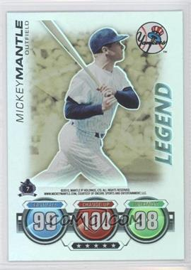 2010 Topps Attax Legends #N/A - Mickey Mantle