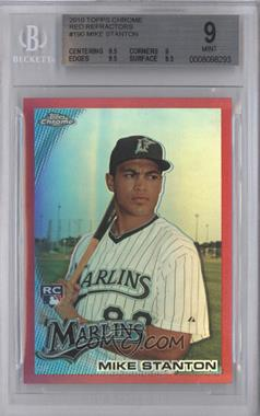 2010 Topps Chrome - [Base] - Red Refractor #190 - Giancarlo Stanton /25 [BGS 9]