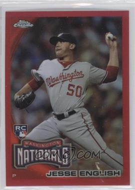2010 Topps Chrome - [Base] - Red Refractor #203 - Jesse English /25