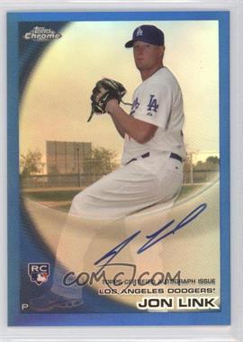 2010 Topps Chrome - [Base] - Rookie Autographs Blue Refractor #173 - Jon Link /199