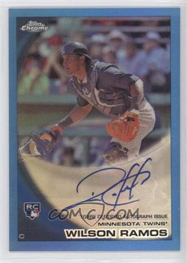 2010 Topps Chrome - [Base] - Rookie Autographs Blue Refractor #189 - Wilson Ramos /199