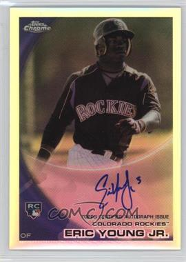2010 Topps Chrome - [Base] - Rookie Autographs Refractor #171 - Eric Young /499