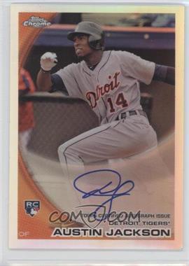 2010 Topps Chrome - [Base] - Rookie Autographs Refractor #177 - Austin Jackson /499