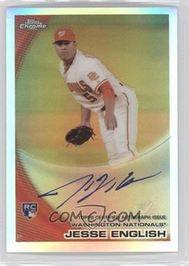 2010 Topps Chrome - [Base] - Rookie Autographs Refractor #203 - Jesse English /499
