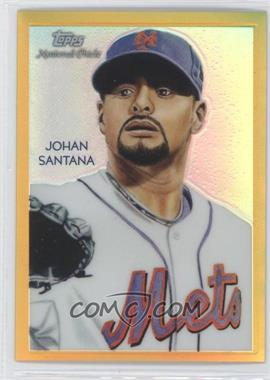 2010 Topps Chrome - National Chicle Chrome - Gold Refractor #CC22 - Johan Santana /50