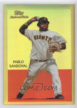 2010 Topps Chrome - National Chicle Chrome - Gold Refractor #CC33 - Pablo Sandoval /50
