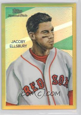 2010 Topps Chrome - National Chicle Chrome - Gold Refractor #CC8 - Jacoby Ellsbury /50