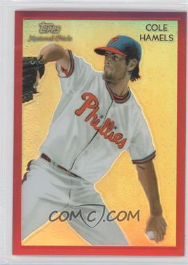 2010 Topps Chrome - National Chicle Chrome - Red Refractor #CC28 - Cole Hamels /25