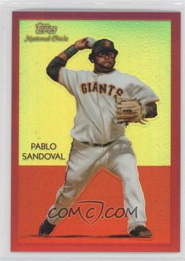 2010 Topps Chrome - National Chicle Chrome - Red Refractor #CC33 - Pablo Sandoval /25