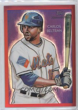 2010 Topps Chrome - National Chicle Chrome - Red Refractor #CC35 - Carlos Beltran /25