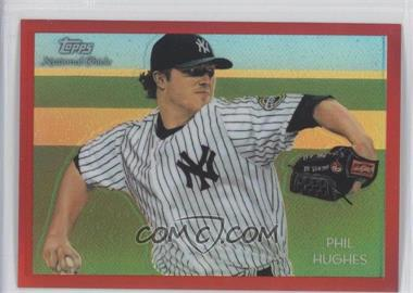 2010 Topps Chrome - National Chicle Chrome - Red Refractor #CC43 - Phil Hughes /25