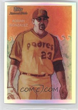 2010 Topps Chrome - National Chicle Chrome - Refractor #CC18 - Adrian Gonzalez /499