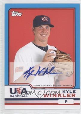 2010 Topps Chrome - Team USA Autographs #USA-21 - Kyle Winkler