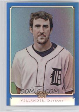 2010 Topps Chrome - Topps 206 Chrome - Blue Refractor #TC10 - Justin Verlander /199