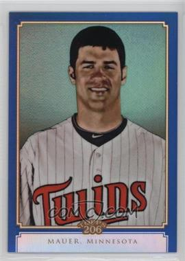 2010 Topps Chrome - Topps 206 Chrome - Blue Refractor #TC40 - Joe Mauer /199