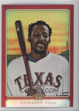 2010 Topps Chrome - Topps 206 Chrome - Red Refractor #TC38 - Vladimir Guerrero /25