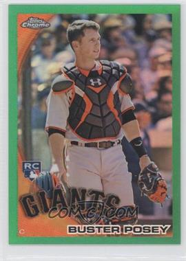2010 Topps Chrome - Wrapper Redemption [Base] - Green Refractor #221 - Buster Posey /599