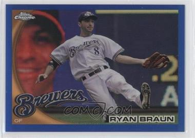 2010 Topps Chrome Blue Refractor #137 - Ryan Braun /199