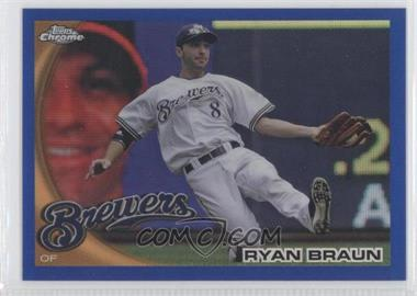 2010 Topps Chrome Blue Refractor #137 - Ryan Braun /199