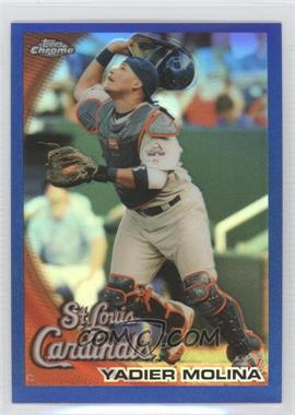 2010 Topps Chrome Blue Refractor #161 - Yadier Molina /199