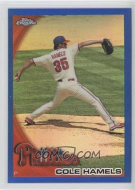 2010 Topps Chrome Blue Refractor #24 - Cole Hamels /199