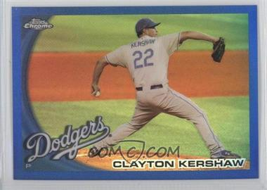 2010 Topps Chrome Blue Refractor #3 - Clayton Kershaw /199