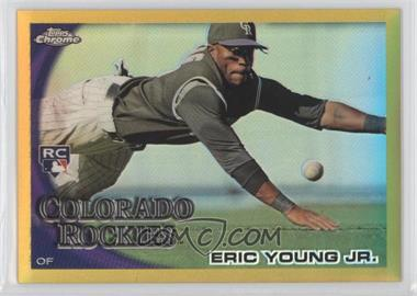 2010 Topps Chrome Gold Refractor #171 - Eric Young /50