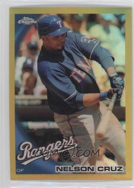 2010 Topps Chrome Gold Refractor #96 - Nelson Cruz /50