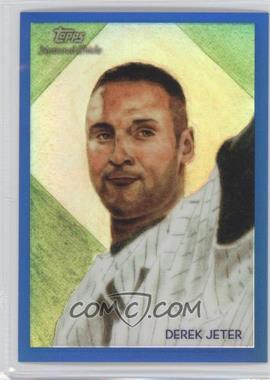 2010 Topps Chrome National Chicle Chrome Blue Refractor #CC12 - Derek Jeter /199