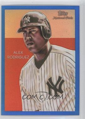 2010 Topps Chrome National Chicle Chrome Blue Refractor #CC21 - Alex Rodriguez /199